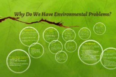 Why do we have environmental Problems?